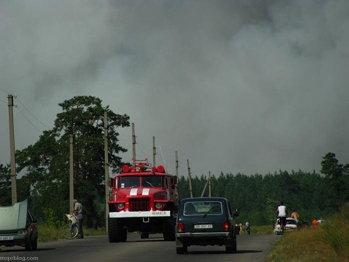 лесной пожар в Луганской области