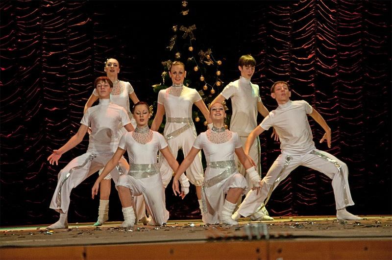 «Белая феерия» - хореографическая композиция в исполнении Детского Образцового хореографического ансамбля «Отрадушка»