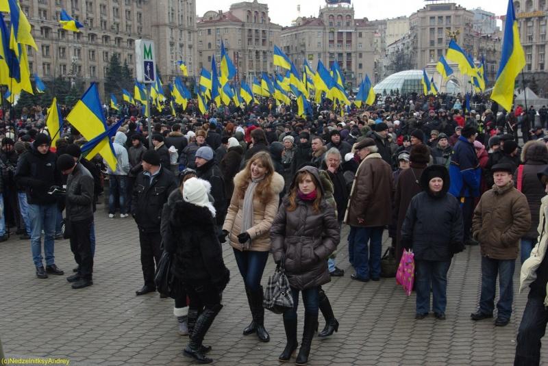 День Соборності. Майдан Незалежності. Контрактова площа
