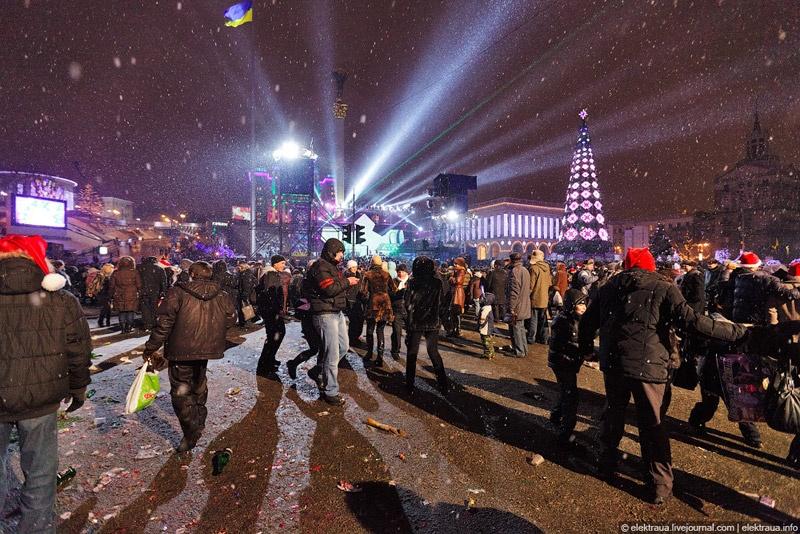 Новый Год на Майдане. Фото О.Стельмах