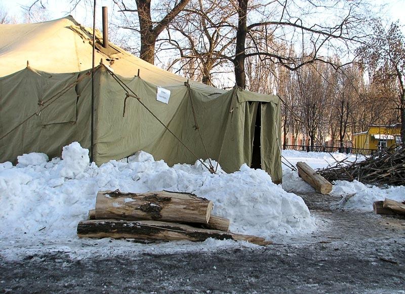 Пункт обогрева в Красноармейске