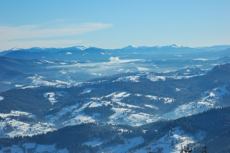 Славское. Гора Тростян. Фото Сергей Томас.
