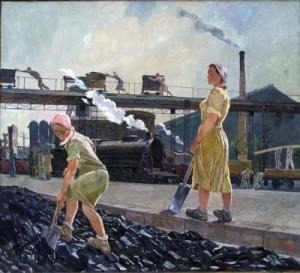 Художник А.А. Дейнека, Донбасс, 1947 год