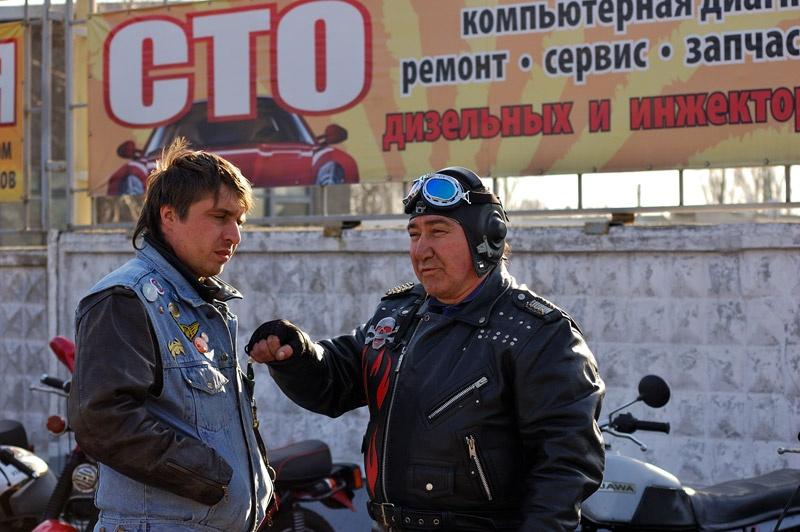 Байкеры клуба GromAda MC, Красноармейск, 2011, фото Томас Сергей