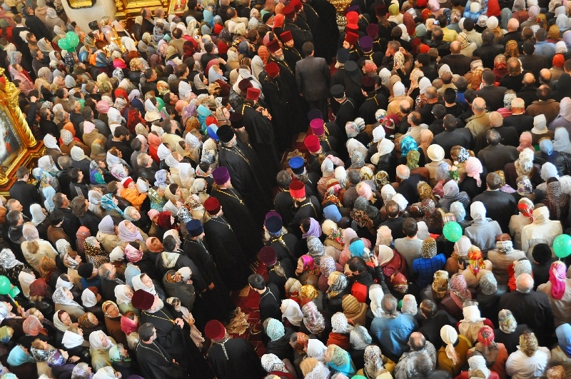 Святейший Патриарх Московский и Всея Руси Кирилл в Донецке