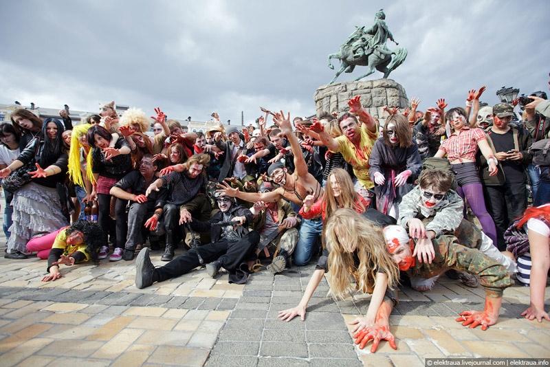 Zombie Walk, Зомби парад в Киеве. Фото Олег Стельмах