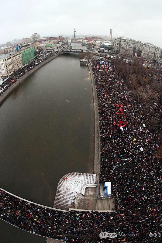 Вид на Болотную площадь с вертолета. © Ridus.ru
