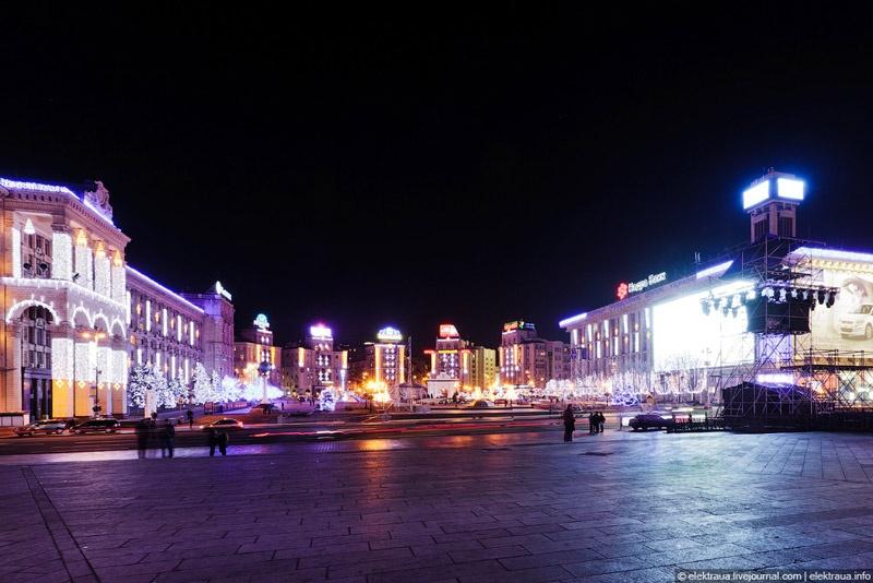 Новогодний Киев. Фото Олег Стельмах