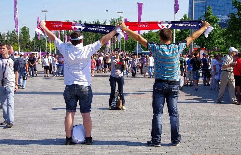 болелщики ЕВРО 2012 в Донецке