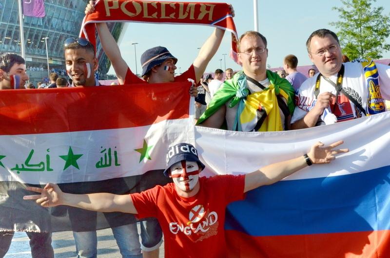 футбольные фанаты в Донецке