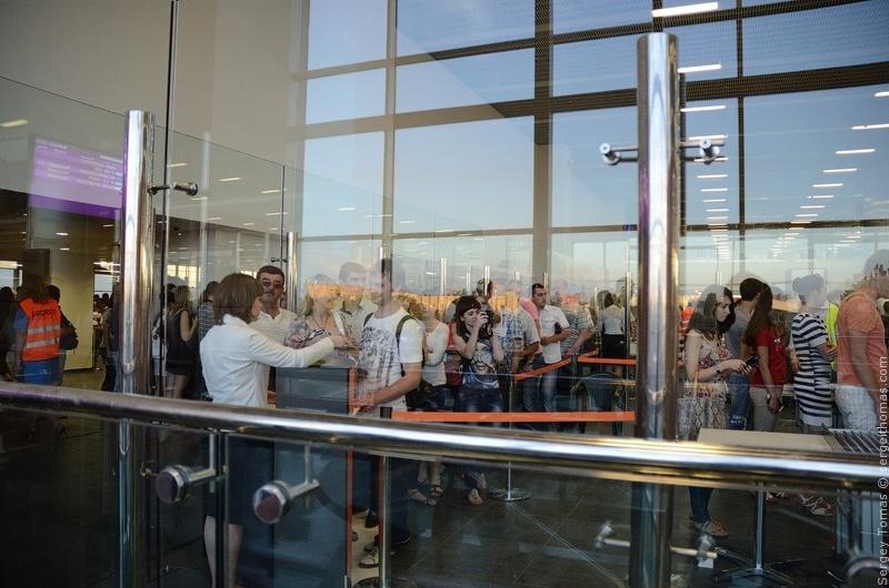 Тестирование нового терминала донецкого аэропорта
