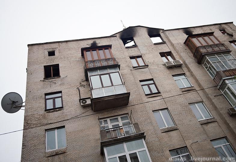 Пожар на Печерске в Киеве