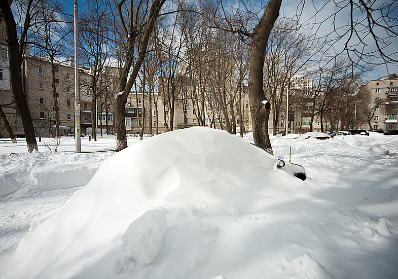 Снежные заносы в Киеве