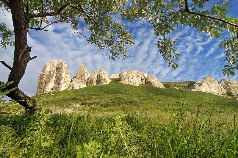 Белокузьминовка меловые скалы