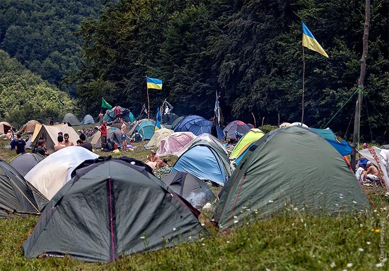 палаточный городок на Шипоте