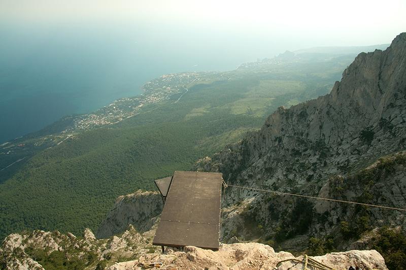 площадка для прыжков с горы