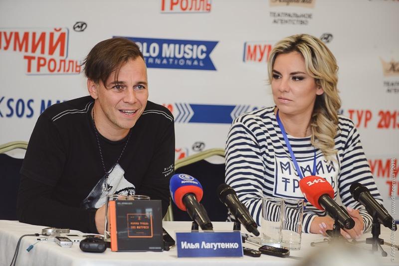 Илья Лагутенко с прессой