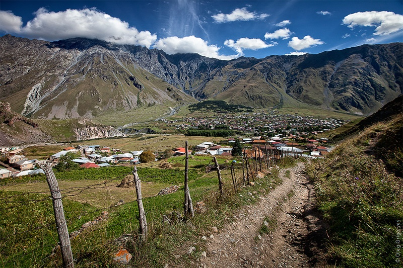 подножья горы Казбек