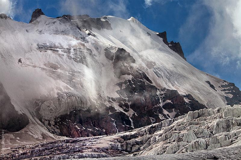 открытый ледник  Гергети