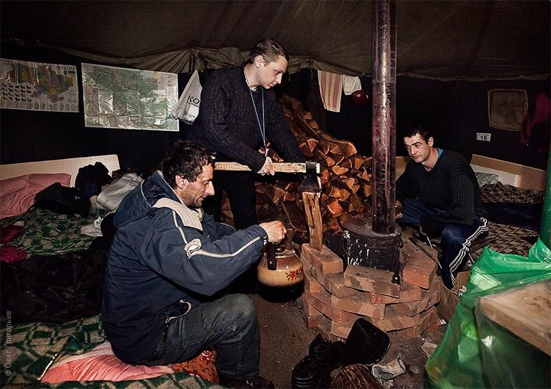 Палаточный лагерь на майдане