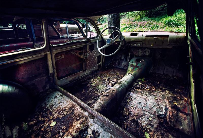 свалка ретро авто