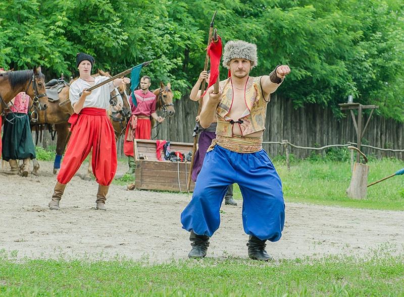 Представление Конного театра на Запорожье